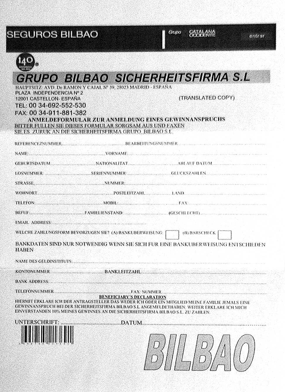 spanische lotterie gewinnbenachrichtigung